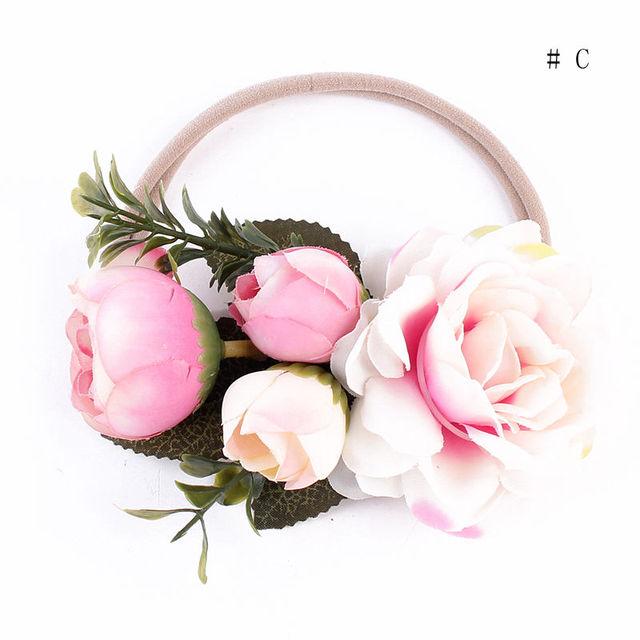 2017 New Kids Girl Baby Toddler Infant Flower Headband Hair Band Headwear Accessories Party Wear Flower Headband 4