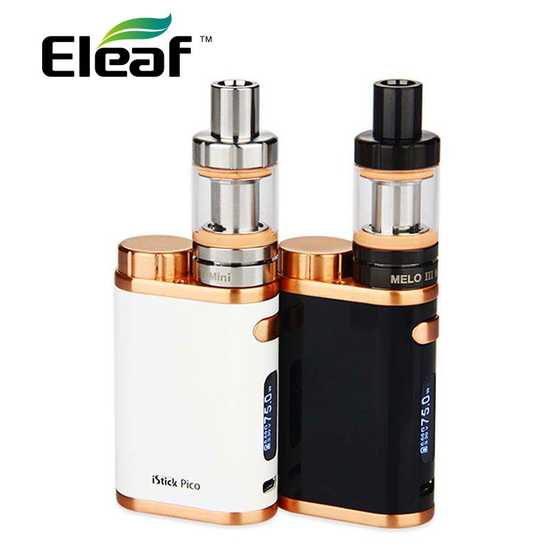 Original 75W Eleaf iStick Pico Kit with 2ml Melo 3 Mini Tank Atomizer & 0.3ohm 0.5ohm EC Coil Head Eleaf iStick Pico Box Mod 75W original eleaf istick pico 75w with vw bypass tc tcr modes and upgradeable firmware function istick pico mod ecigarette
