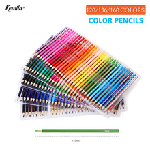 120 136 160 Colors Wood Colored Pencils Set Lapis De Cor Artist Painting Oil Color Pencil