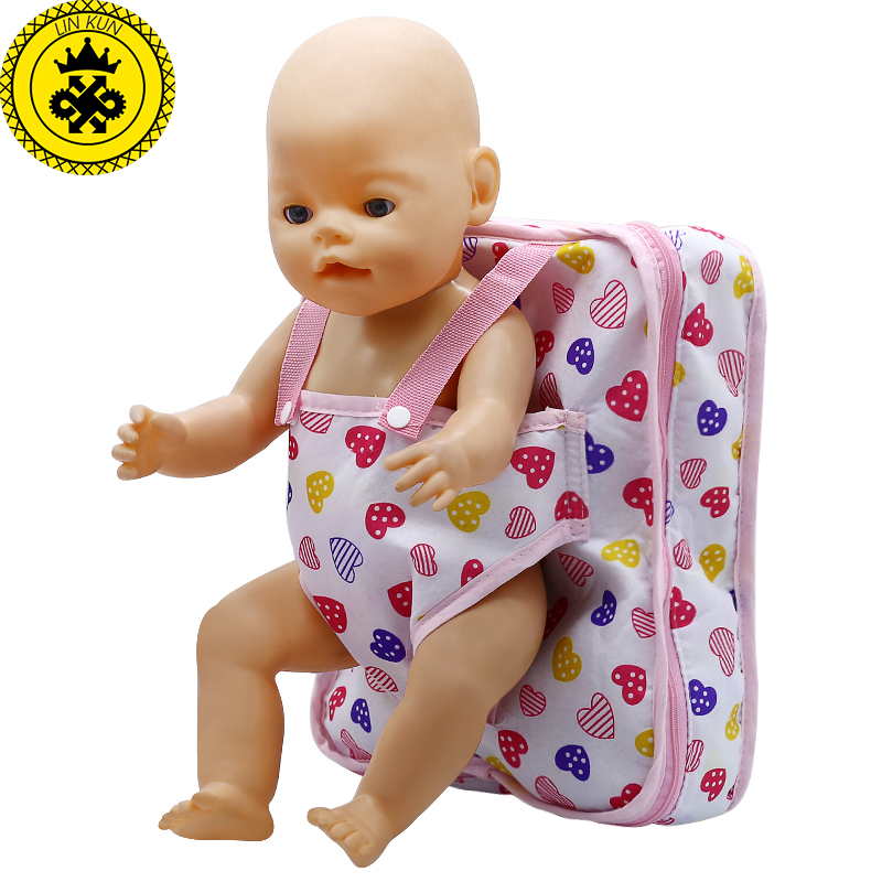 Doll Accessories Outgoing Packets Outdoor Carrying Doll Backpack Suitable for Carrying 43cm Baby Born Zapf Doll  B-1 designs for health prenatal pro essential packets 60 pkts