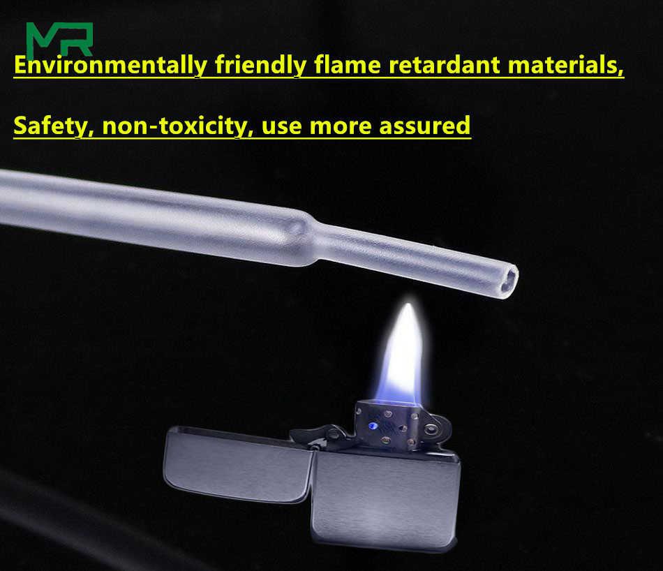 1/5 mètre/lot 2:1 tube de chaleur transparent 1mm 1.5mm 2mm 2.5mm 3mm 3.5mm 4mm 5mm 6mm diamètre thermorétractable tube bricolage connecteur réparation