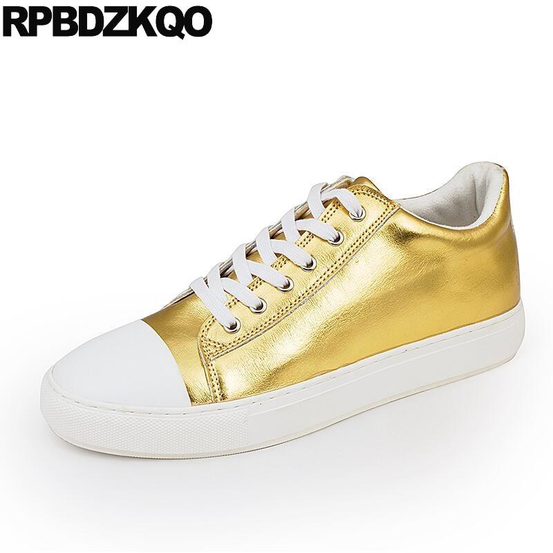 Gold Designer Men Casual Shoes Hot