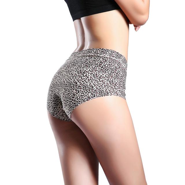 Women  Seamless Leopard Panties