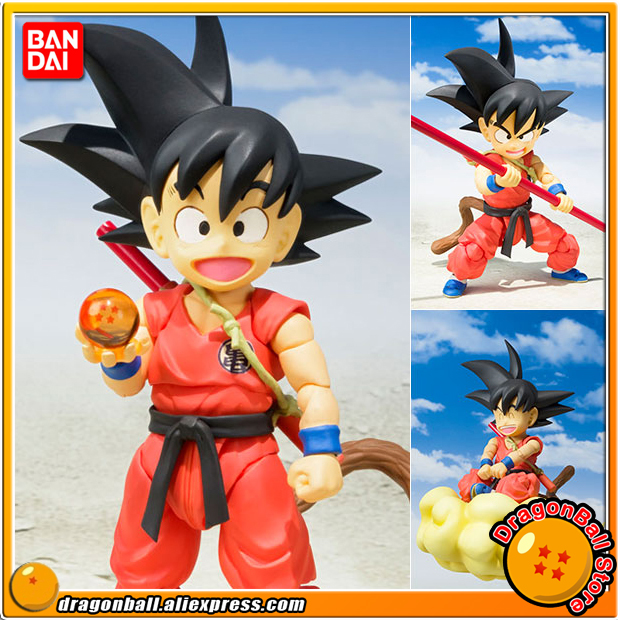 Japan Anime Dragon Ball Original BANDAI Tamashii Nations S.H. Figuarts / SHF Action Figure - Son Goku -Childhood- genuine bandai exclusive tamashii nation 10th anniversary s h figuarts dragon ball z son gokou goku kaiohken ver action figure