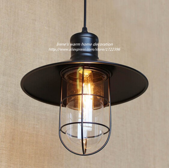1 Light 40W Retro Loft Style Edison Bulbs Vintage Industrial Pendant Light,For bar home living lights,Bulb Included american country industrial style wheel pendant lamps with 6 lights retro loft metal pendant light for bar home living lights