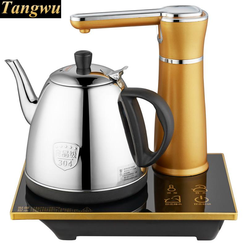 Automatic upper kettle electric 304 stainless steel boiling tea ware automatic upper water electric kettle pump 304 stainless steel tea set