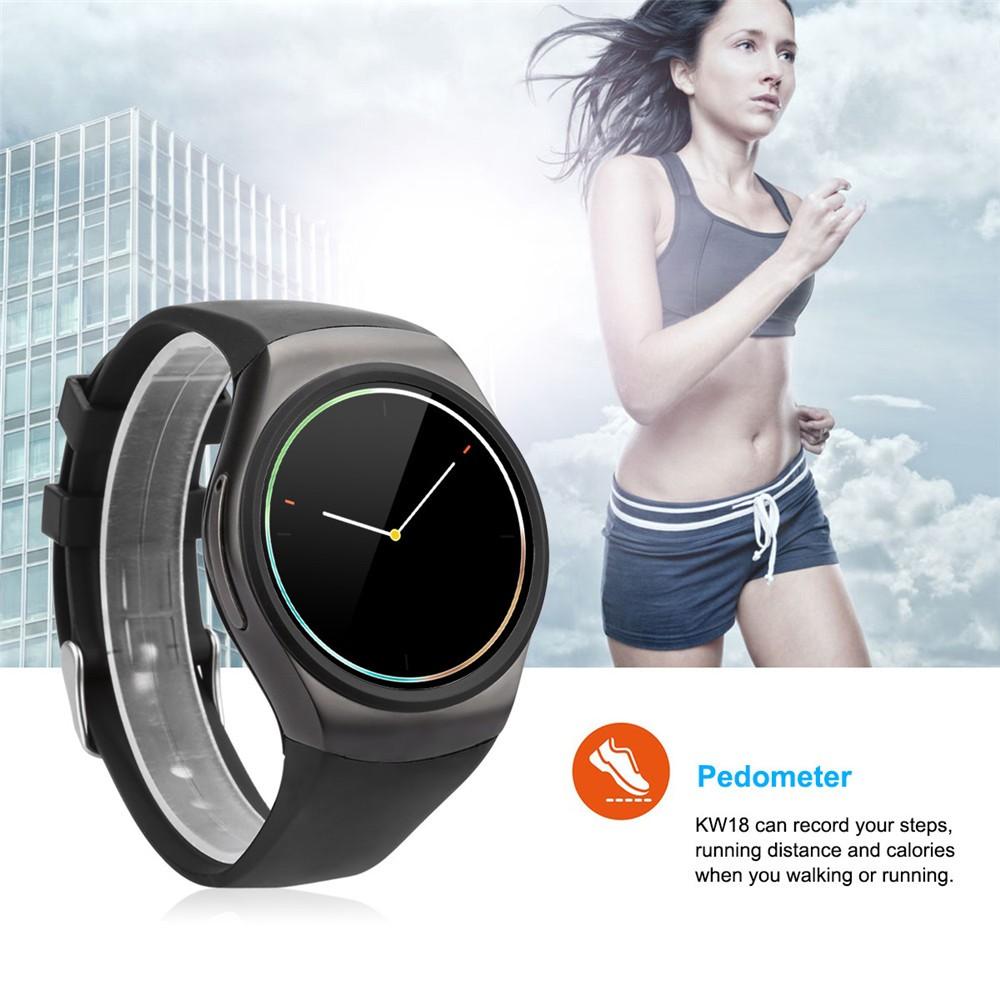 2016 New Product KW18 Smart Watch Android IOS Digital watch Bluetooth Reloj Inteligente SIM Round Heart Rate Monitor Watch Clock17