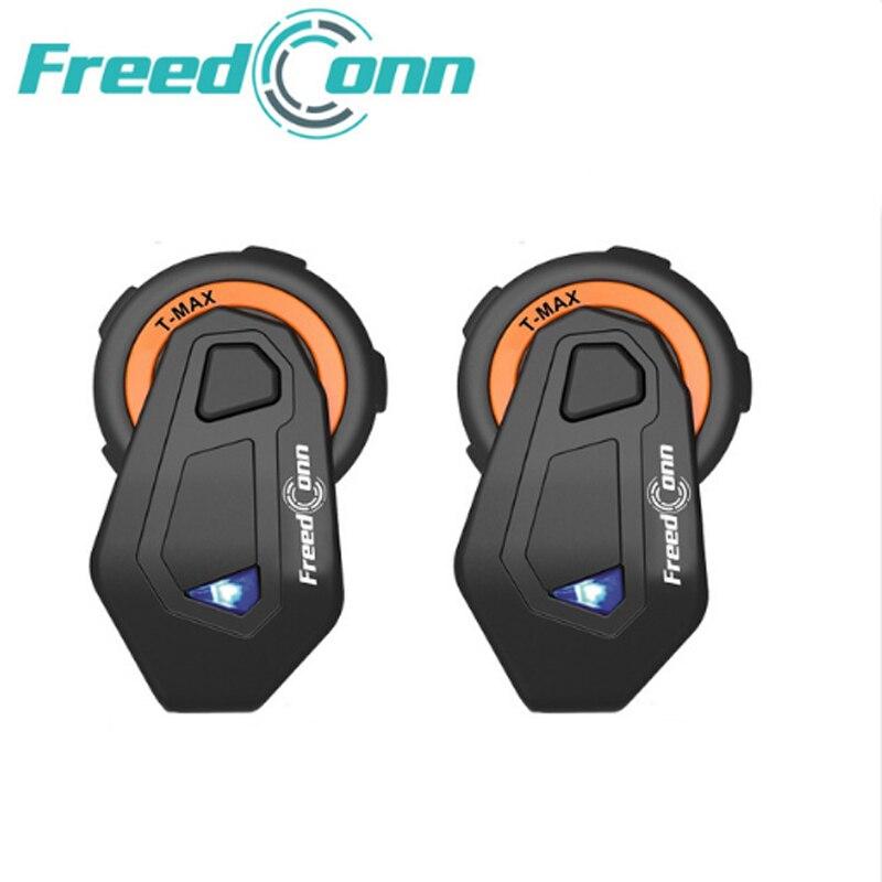 2 pièces casque de moto t-max 1500 m de marque gratuconn casque d'interphone bluetooth 6 coureurs groupe parlant Radio FM Bluetooth 4.1