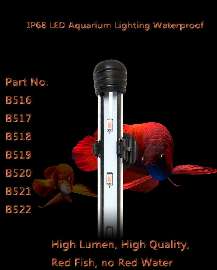 hot sale 9W 90cm Waterproof LED aquarium bar light for freshwater saltwater plant Blue White UV lamp for coral reef fish tank