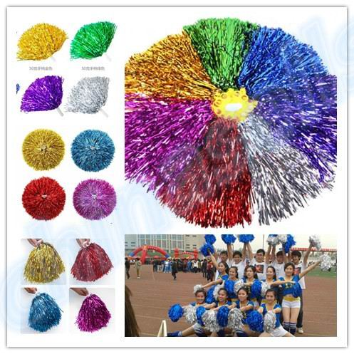 50pcs 50g Modish Cheer Dance Supplies Competition Cheerleading Pom Poms Flower Ball Lighting Up Party Cheering Fancy