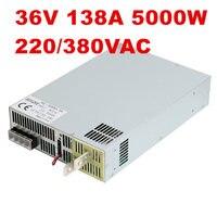 220/380VAC 5000 Вт 36 В 138A DC4 36V источника питания 36 В 138A AC DC высоком Мощность PSU 0 5 В аналогового сигнала управления SE 5000 36 DC36V Мощность