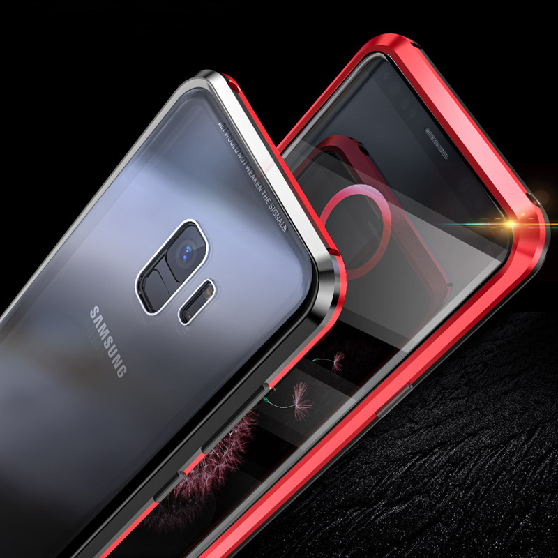 Front And Back Glass Case For Samsung S10 Case Note 9 8 Metal Back Covers For Galaxy S10 Plus Cover For Samsung S9Plus Case S S8