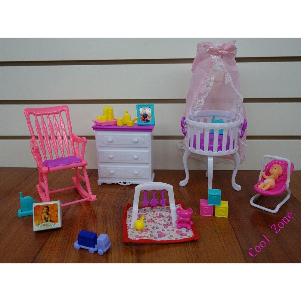 Miniatura de Los Muebles Del Bebé Home Nursery para Barbie Doll Casa ...