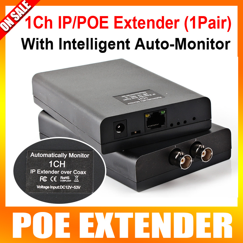 Ethernet 1CH IP Video PoE ToCoax Media Converter Extender Long Distance Power Coax,Max Up to 2500m,With Auto-monitor,A Pair Sale кабель антенный hama h 83190 coax m coax f 1 5m