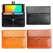Luxury PU Leather Case Briefcase for LG G Pad V400 V410 V480 V495 V496 V498 F 7.0 LK430 Tablet Portfolio w/ Credit Cards Holder