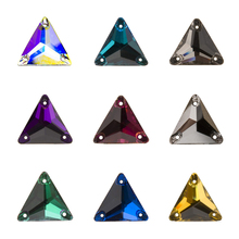 CTPA3bI 3270 Triangular DIY Sewing Crystal Strass Sew On Stones Glass Beads Flat Back With Two Holes buttons For Clothing