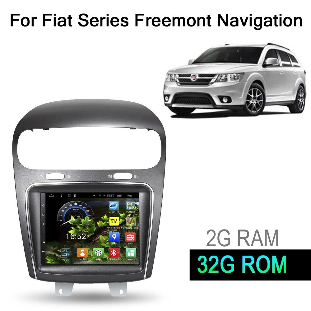 8.4 pouce 32g ROM Android 7.1 Voiture GPS Système de Navigation Multimédia Stéréo Auto Radio Lecteur Vidéo Audio Pour Dodge pour Fiat Freemont