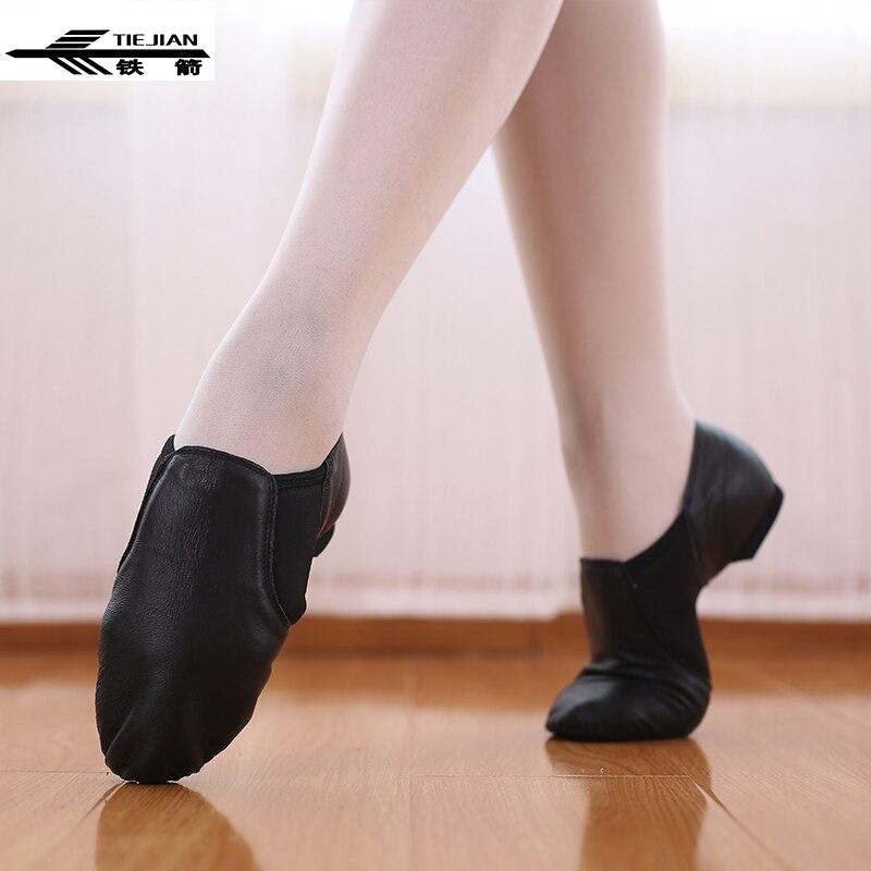 Chaussures de Ballet femme extensible en cuir véritable Jazz Latin Salsa chaussures de danse femmes enseignants chat griffe extrait chaussures baskets 82