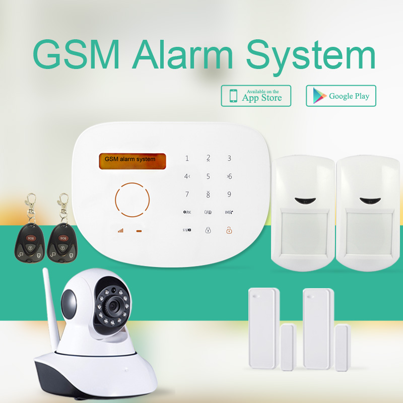 433mhz GSM alarm system, Android+IOS APP GSM home security alarm & RFID GSM home security burglar alarm system Anti-theft alarm