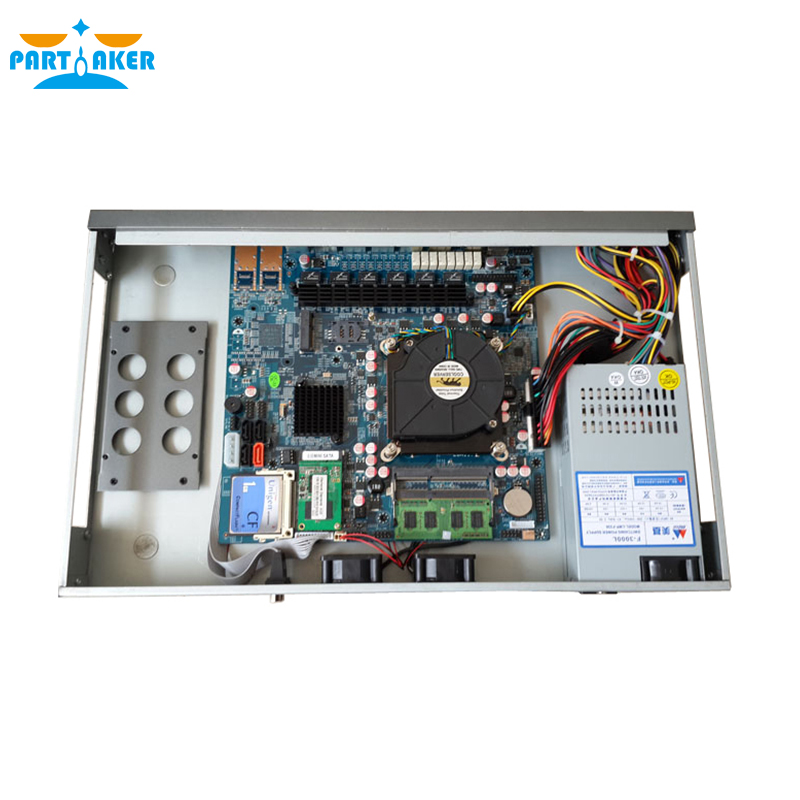 Partaker R15 Intel I7 4770 6 Ethernet Cabinet Type 1U Network Router with 2G RAM 8G SSD PFSense