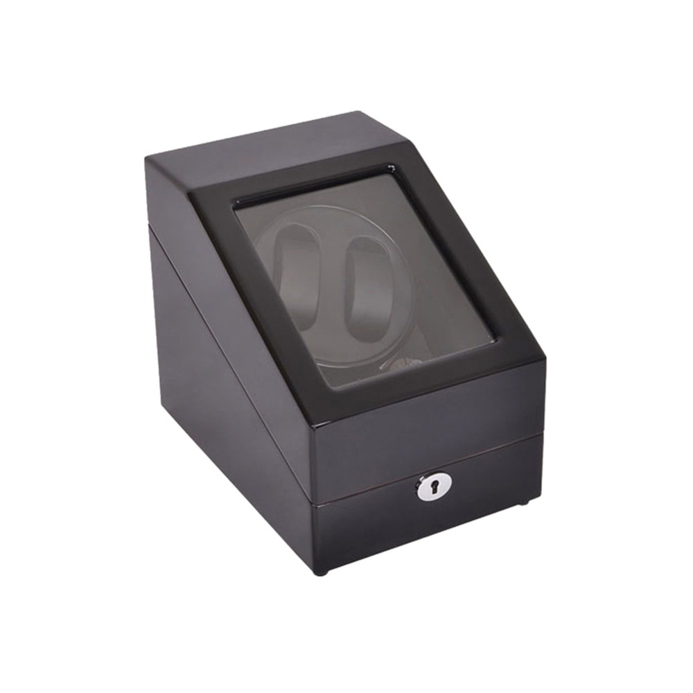 Watch Winder ,LT Wooden Automatic Rotation 2+3 Watch Winder Storage Case Display Box (Black) цена и фото
