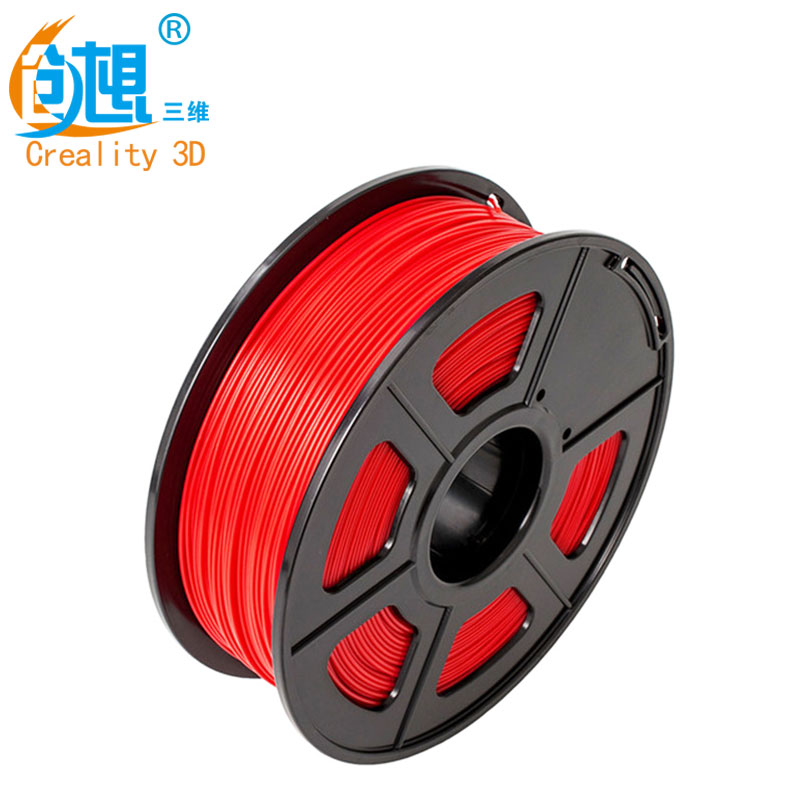 CREALITY 3D Cheap 3D Printer Filaments PLA Red Color Samples 1KG/roll 1.75mm for 3D Printer /3D Pen/Reprap/Makerbot various optional 3d printer pla filament samples 1kg roll 1 75mm 3mm for most 3d printer 3d pens reprap makerbot