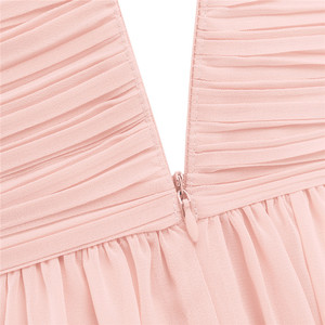 Image 5 - Princess Girls Chiffon Pleated Wide Shoulder Straps Flower Girl Dress Ruched High waisted Sleeveless A Line Wedding Party Dress