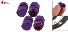 TOYL 4 x Фиолетовый Шестиугольник Алюминиевый Сплав Шины Valve Caps для Авто