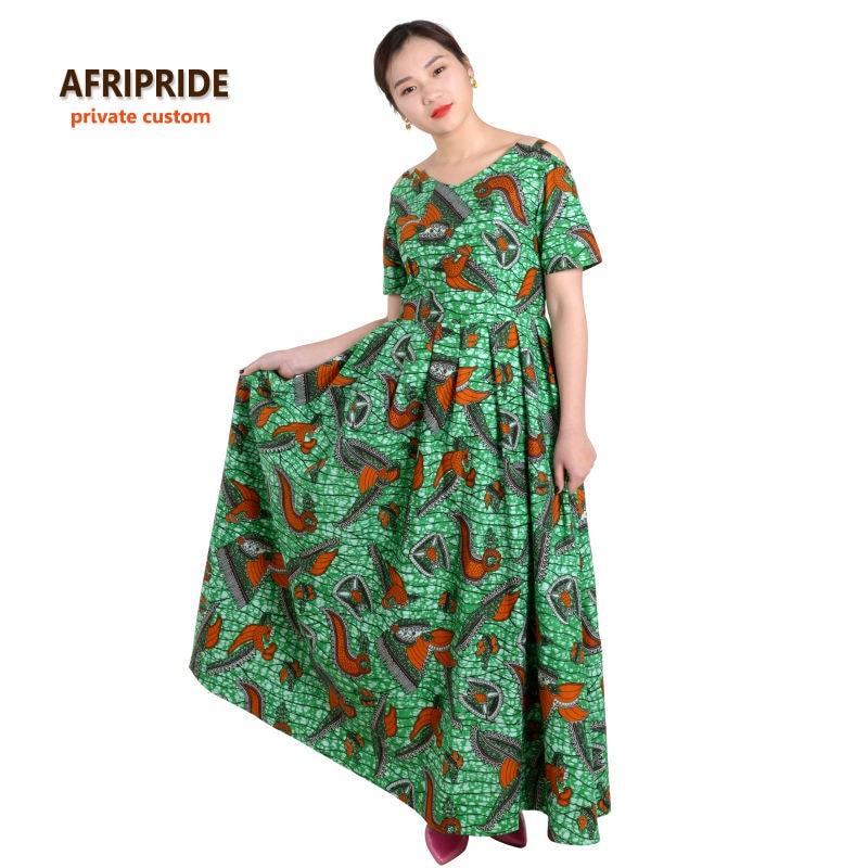 Pakaian Afrika untuk wanita AFRIPRIDE klasik tradisional lengan - Pakaian kebangsaan - Foto 3