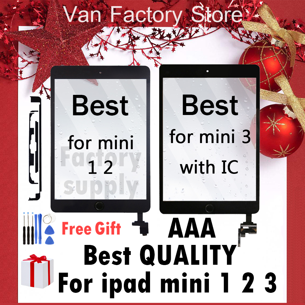 AAA Original Digitzer For IPad Mini 1 2 3 White/black Touch Screen Front Display Glass Assembly With Or Without Home Button Flex