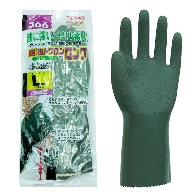 TOWA 566 Work Gloves Oil resistant Anti-corrosion Acid and Alkali Safety gloves Wear-resistant mechanical processing oil workingTOWA 566 Work Gloves Oil resistant Anti-corrosion Acid and Alkali Safety gloves Wear-resistant mechanical processing oil working