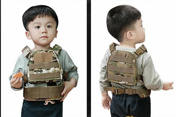 WoSporT Wholesale 2018 Hunting Military Safety Child Kid Tactical Vest Outdoor Sports Airsoft Paintball CS Games Hiking Camping ...