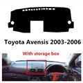 Крышка приборной панели автомобиля TAIJS для Toyota Avensis 2003-2006 с ящиком для хранения правый руль авто приборная панель коврик для Toyota Avensis