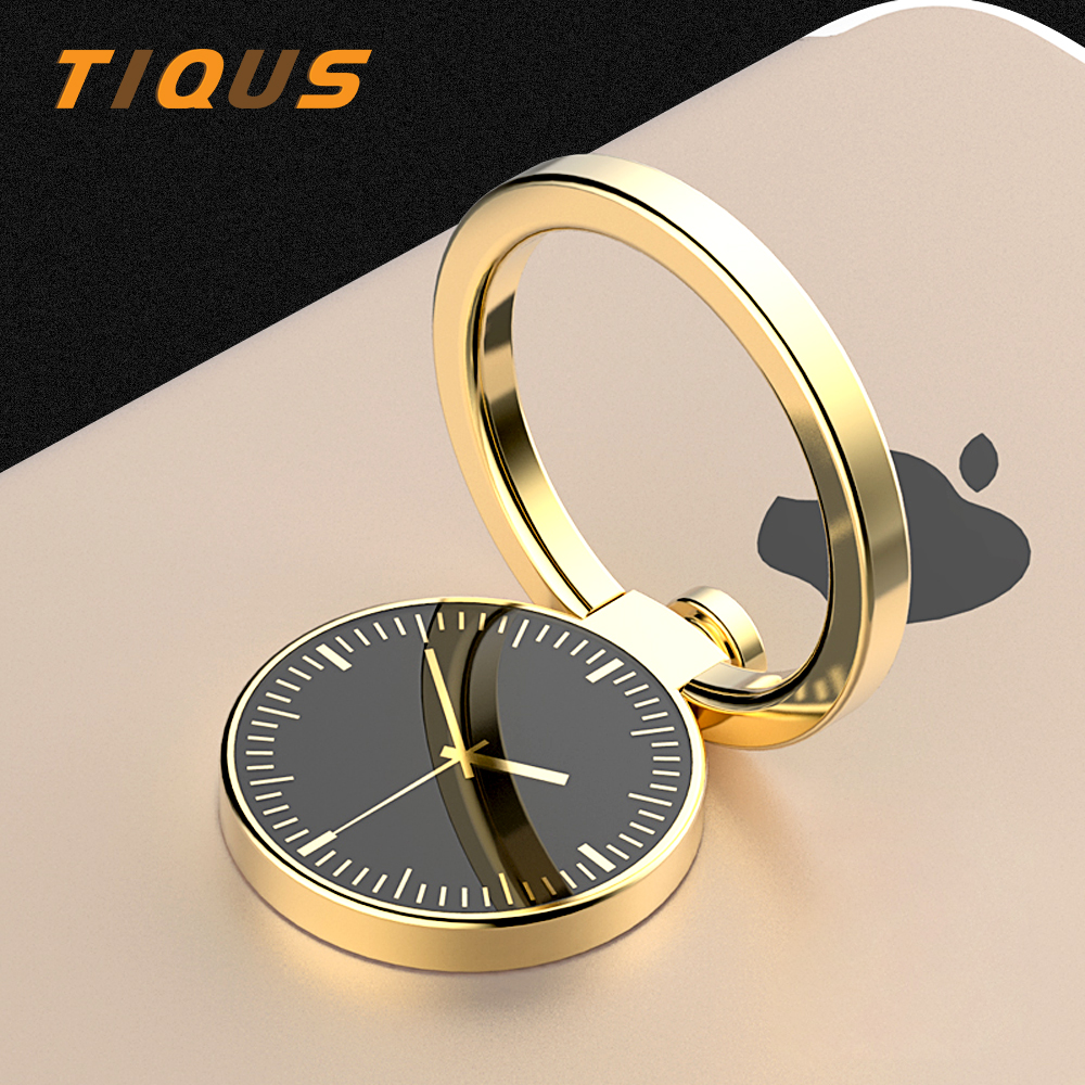 TIQUS Watch Finger Ring Holder For IPhone X 8 7 Stand Mobile Phone Magnetic Phone Finger Holder Universal 360Degree Cell Phone