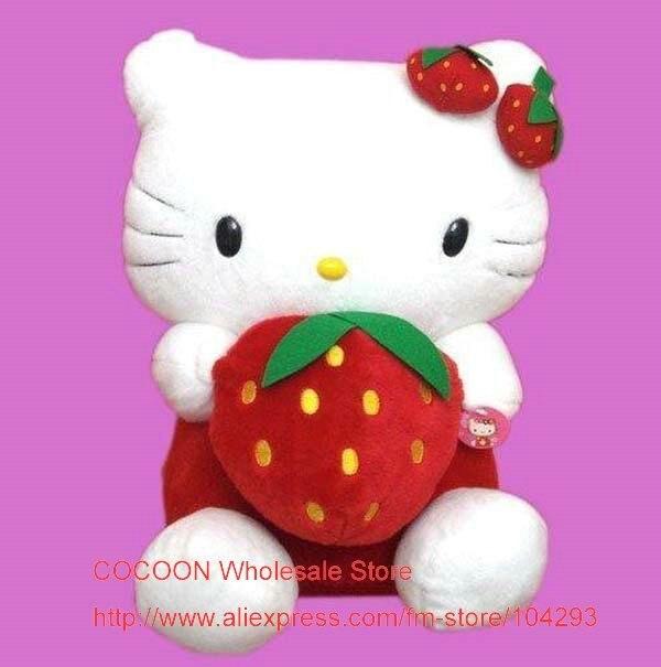 Free shipping Christmas Gift Hello Kitty plush Strawberry toy