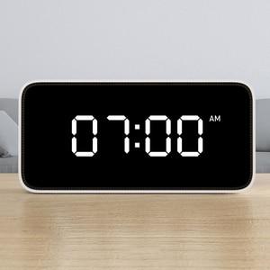 Image 3 - Xiao mi Xiaoai Smart Trasmissione Di voce Di allarme Orologio Da Tavolo ABS Dersktop Orologi AutomaticTime Lavoro di calibrazione Con mi casa app