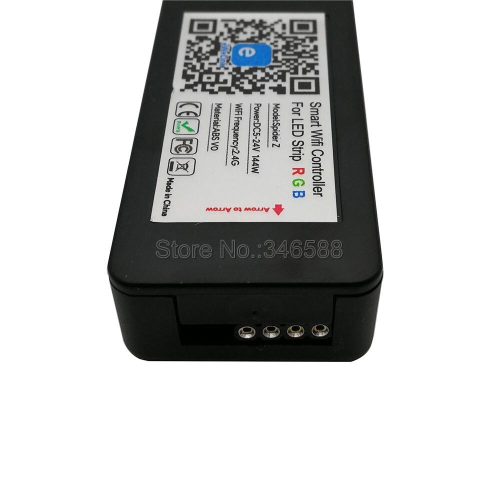 DC5V 12V 24V Wireless Smart Wifi LED Controller 24Keys Remote Control Work With APP Alexa For SMD 5050 3528 RGB LED Strip Light