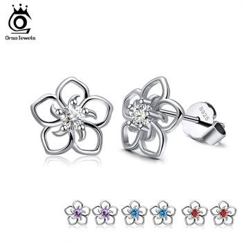 925 Sterling Silver Female Stud Earrings