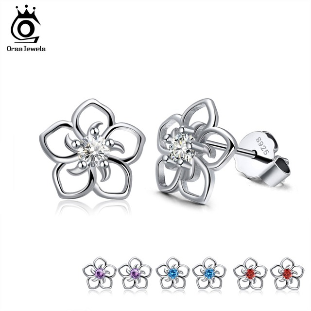 925 Sterling Silver Female Stud Earrings