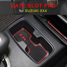 Non-slip Car Interior Door Gate Slot Mats Carpets Position Cup Holder Pads For SUZUKI SX4 Door Groove Mat 2007-2014 2015 2016 стоимость