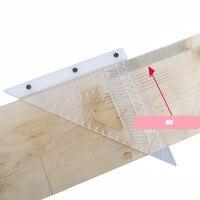 T-tipo Marca Escriba Ferramenta de Medição régua triângulo Quadrado Carpintaria Precision Cruz-calibração Régua régua Buraco