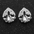 Brincos fashion Female Hollow black Blue big Crystal Rhinestone Stud earrings with stones earrings For women fine jewelry