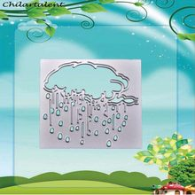 Cloud rain Metal Steel Cutting Dies Stencil Scrapbooking Album Paper Card making for DIY Photo Decorative Craft Stamps(China)