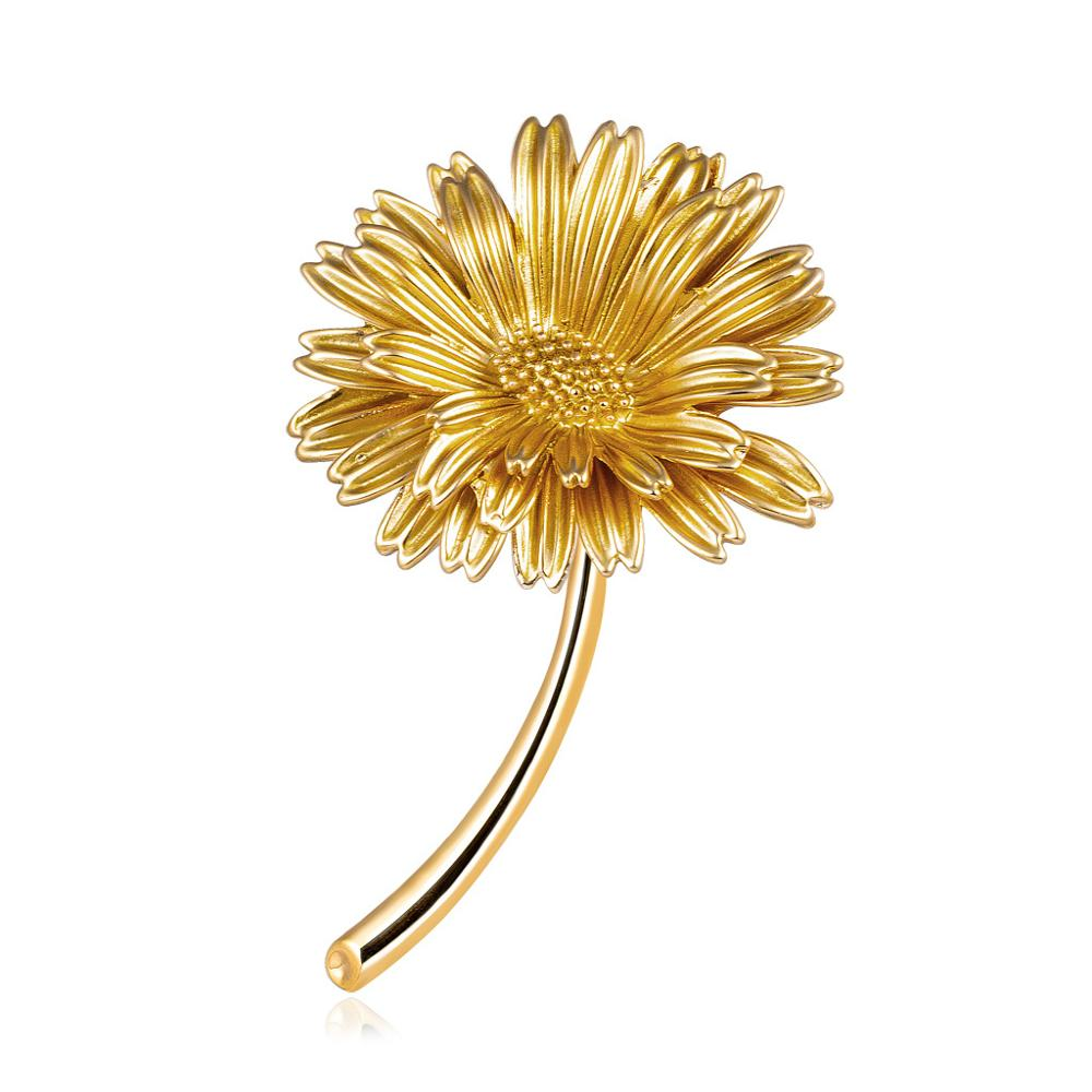 CINDY XIANG Enamel Daisy Pins Summer Fashion Brooch Women and Men Unisex Brooches Sunflower Accessories 3 Colors Choose New 2021 3