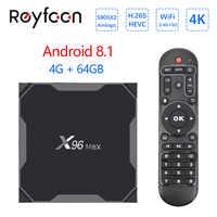 Smart TV Box X96 Max Android 8.1 4GB 64GB Amlogic S905X2 Quad Core 5.8GHz Dual Wifi 1000M BT4.1 H.265 4K Media Player Set Top Bo