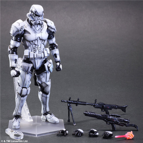 SAINTGI Star Wars The Force Awakens Stromtrooper Play Arts Imperial Stormtrooper Espada BB8 Figures PVC Collectible 26cm play arts star wars the force awakens boba fett figure action figures gift toy collectibles model doll 204