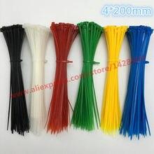 Attaches de câble en plastique et Nylon, fermeture éclair, haute qualité, colorées, Standard d'usine, 3x100mm, 4x pièces/sac mm