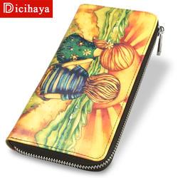 DICIHAYA фирменный дизайн женские кожаные кошельки Кошелек для девочек Женский телефон карман длинный кошелек сцепления дамы Сцепление Сумки