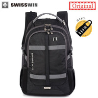 2015 New Arrival Swiss Brand Backpack Waterproof 17 Laptop Backpacks Large Capacity Fashion Shool Bagpack For