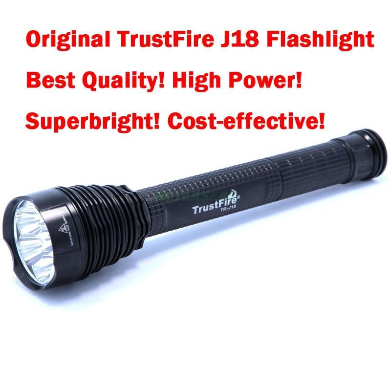 Original TrustFire J18 7T6 7 * Cree XM-L T6 8500 Lumens 7 LED Most Powerful Led Flashlight Torch (3*26650/3*18650) trustfire a8 torch 5 mode 1600 lumens cree xm l t6 high power torch led flashlight 1 26650 1 charger